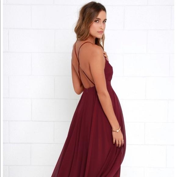 54d7e1299cc Lulu's Dresses | Lulus Mythical Kind Of Love Wine Red Maxi Dress ...